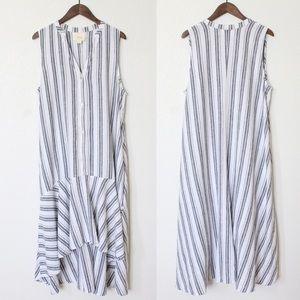 Maeve | Anthropologie • Striped Linen Dress • XL